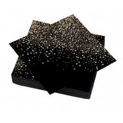 Serviettes Noir Pépites noir