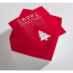 Serviettes Snowy Christmas